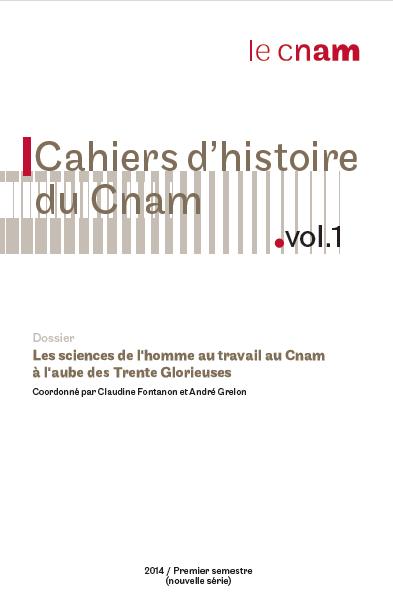 Cahier d'historie du Cnam 1